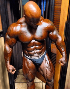 IFBB PRO, Ben White after a base coat of Contest Color