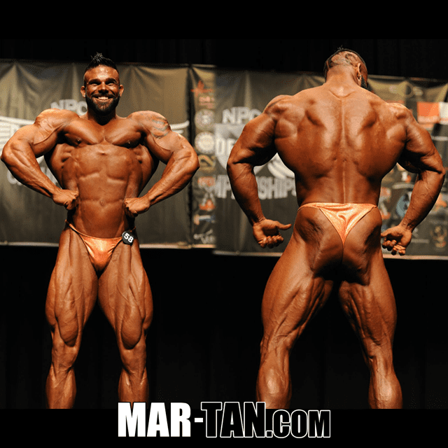 Bostin Loyd_Mar Tan_Spray Tan_Posing Oil