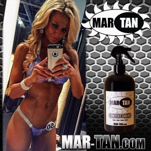 Bodybuilding.com Model Nikki Walter Spray Tan Contest Color Bikini